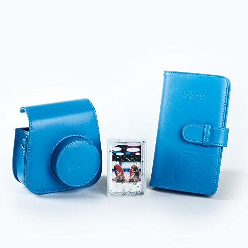 Fujifilm Instax 70100138068 Kit Accessori Per Fotocamera Mini 9, Cobalt Blue