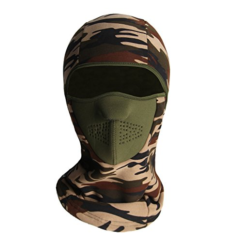 ZERDOCEAN Winter Windproof Fleece Full Face Motorcycle Ski Mask Balaclava Light Camo