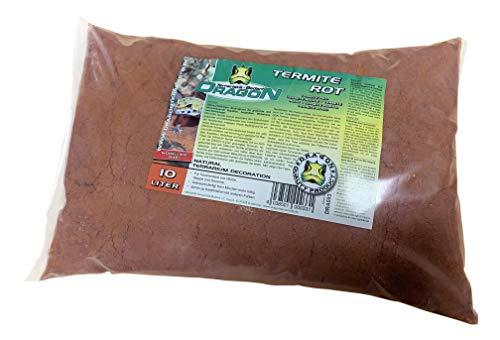 Dragon Termite Sand ROT 10l - Lehmhaltiger Terrarien Bodengrund, ideal für Wüstentiere wie Z.B Bartagamen, da Modellierbar,