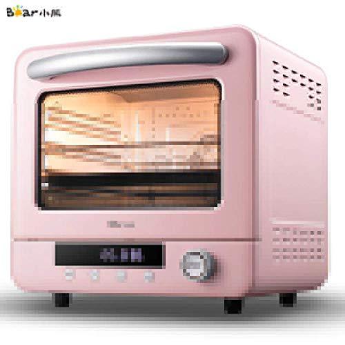 Horno eléctrico de 20 L para pan Mini horno tostadora Cyclone Vapor, Horno eléctrico Pizza Multifunción Máquina de desayuno 220V, EU, Rosado