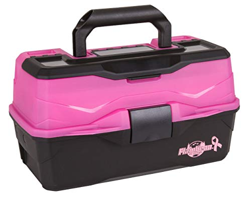 Flambeau Outdoors 6382FP 2-Tray - Classic Tray Tackle Box - Frost Pink/Black