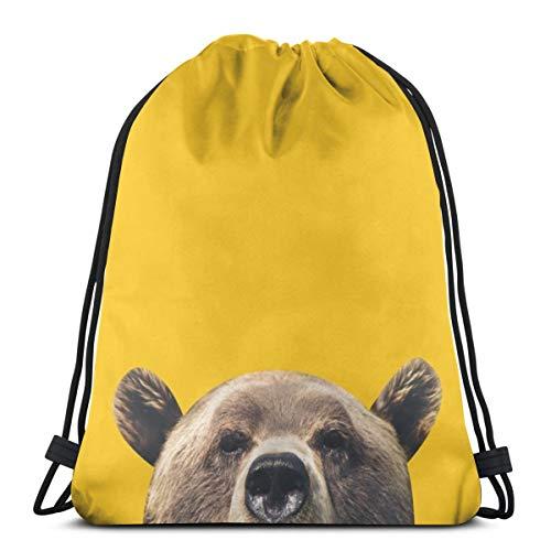 Nonebrand Bear - Bolsa de deporte de viaje con cordón para hombre y mujer