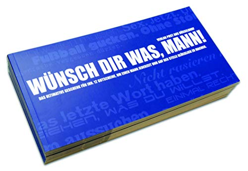 Gutscheinbuch für Männer WÜNSCH DIR WAS, MANN! - 12 perforierte Postkarten zum Raustrennen