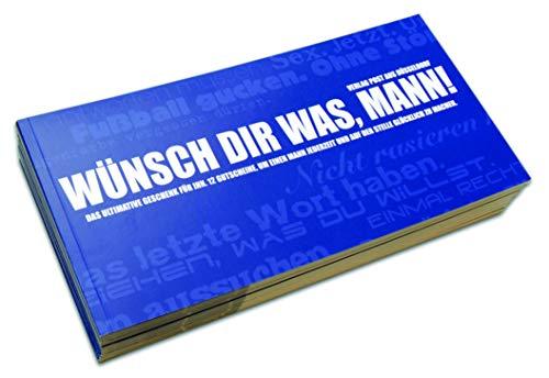 Gutscheinbuch für Männer   WÜNSCH' DIR WAS, MANN! - 12 perforierte Postkarten zum Raustrennen