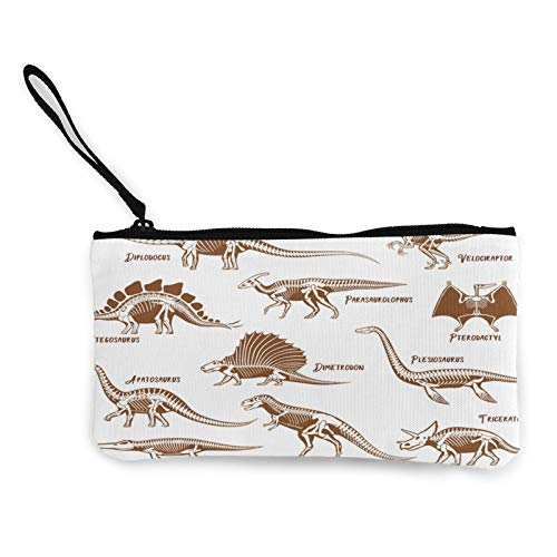 Dinosaurs Skeleton Set Womens Coin Change Purse Pouch Multipurpose Toiletry Bags Wallet Craft Bag