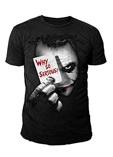 DC Comics - Batman Herren T-Shirt - Joker Why so Serious (Schwarz) (S-XL) (S)