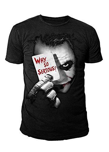 DC Comics - Batman Herren T-Shirt - Joker Why so Serious (Schwarz) (S-XL) (S)