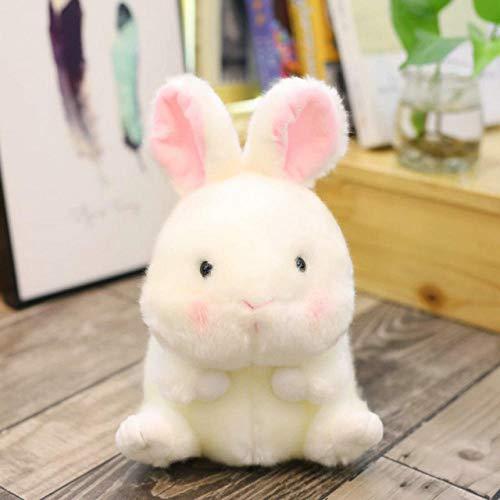 ZZFJF Bola de felpa forma hámster/panda/conejo/cerdo redondo gordo relleno animal suave muñeca delfín tamaño pequeño juguete para niños regalo 40cm/1pc