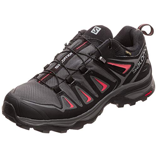 Salomon X Ultra 3 GTX W, Zapatillas de Senderismo Mujer, Multicolor (Magnet/Black/Mineral Red 000), 38 2/3 EU