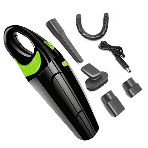 OMKMNOE Limpiador de vacío de batería, Alta Potencia uless 120W Coche inalámbrico húmedo y seco Fuerte para Pisos alfombrados 2700mAh,Negro