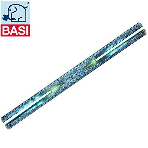 Basi® Drückerstift, beidseitig gefräst, Stahl verzinkt (8 x 140 mm)