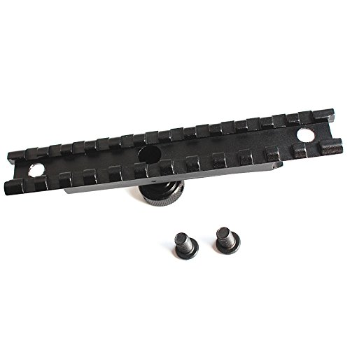 Noga Accesorios para Armas de Caza Picatinny Rail Optics Scope Mount 12 Ranuras para Airsoft AR-15 M4 Carry Handle