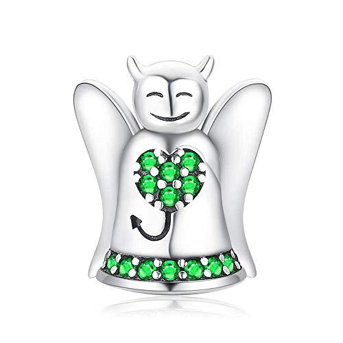 Pendentif en pour Femme,Acatène Romantique Fashion Cute Angel Green Graines pour Pendentif Accessoire Bijoux De Dames Boutique De Cadeau d'anniversaire Cadeau De Noël Accessoires De T