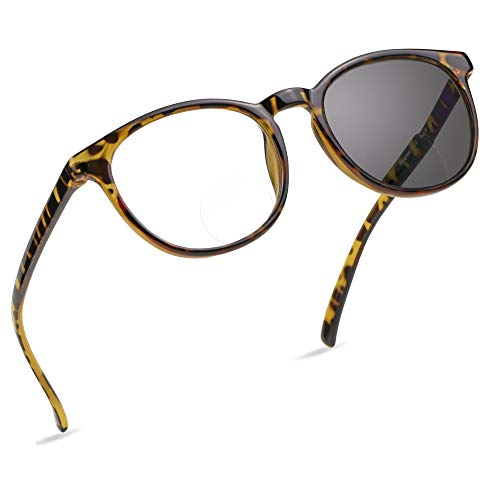 online glasses retailers LifeArt Bifocal Reading Glasses, Transition Photochromic Dark Grey Sunglasses, Oval Frame, Computer Reading Glasses, Anti Glare (Tortoise, +0.00/+1.00 Magnification)