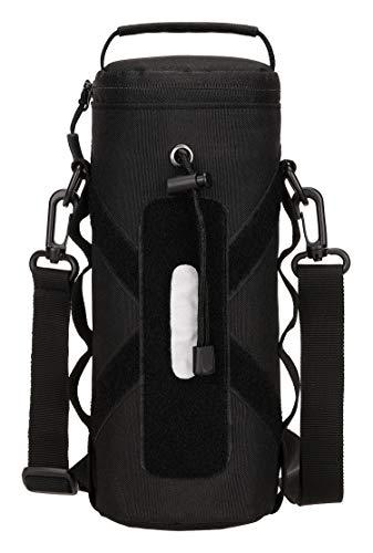 Yakmoo Soporte/Portador para Botella de Agua Estilo Militar Táctico 900D Nylon Molle Sistema 550ml/800ml1000ml Bolsa de Botella Impermeable al Aire Libre