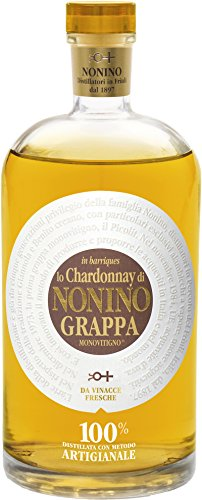 nonino Chardonnay monovit igno grappa con Regalo del paquete, 700 ml