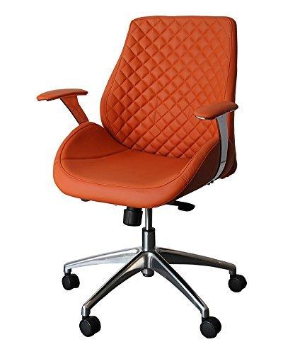 212624 Bürodrehstuhl Designer Drehstuhl Chefsessel PANTERA orang ClassicCarSeat