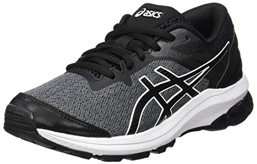Asics GT-1000 10 GS, Road Running Shoe, Black/White, 39 EU