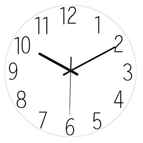 YUN Clock@ Glas Wanduhr Nicht tickende Stille Quarz 3D Dekorative Uhren, Moderner Stil Gut für Wohnküche Wohnzimmer Schlafzimmer Büro, batteriebetrieben [TP-1840]