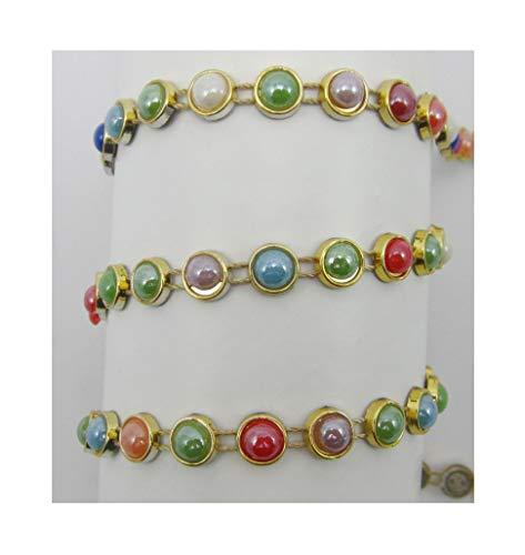 Ornella - Cinta de perlas (7 mm, brillante, 4 m)