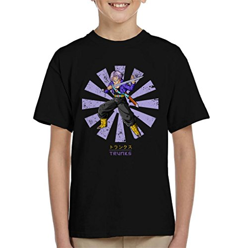 Cloud City 7 Trunks Retro Japanese Dragon Ball Z Kid's T-Shirt