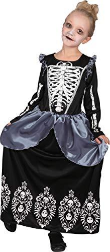 Costume bambina Strega Regina degli scheletri, 8-10 anni