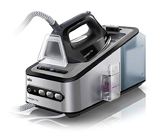 Braun Carestyle 7 IS7056BK - Centro de planchado, 2400 W, suela bidireccional...