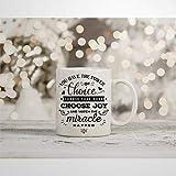N\A Tazza da caffè Tazza Motivazionale Regalo Positivo Tazza novità ispiratrice Tazza gentilezza Self Love Scegli Gioia Tazza da tè in Ceramica Regalo di Compleanno di Natale per Uomo Donna