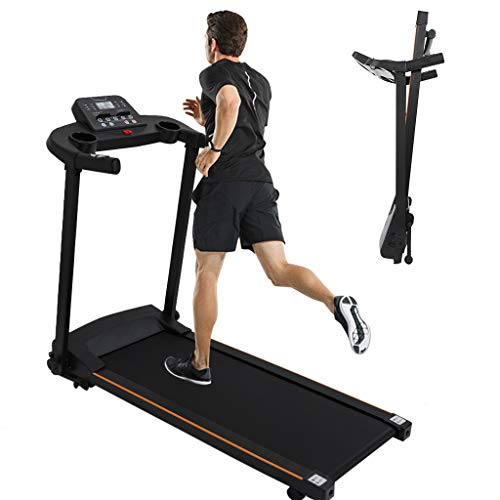 Folding Treadmill w/LCD Display Screen,Foldable Electric Running Machine High Power 2.0HP Treadmills,Shock Absorption Portable Treadmill Exercise Machine Cardio Machine For Indoor Sport Home Gym 220lb