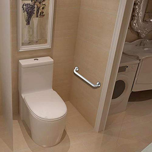 2 Pack 16 Inch Shower Grab Bar, ZUEXT Chrome Stainless Steel Bathroom Grab Bar, Shower Handle, Bathroom Balance Bar, Safety Hand Rail Support - Handicap, Elderly, Injury, Senior Assist Bath Handle