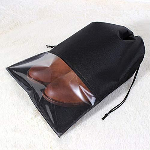 Durable, versátil, fácil de transportar. 10 PCS Bolsa de almacenamiento de zapatos a prueba de agua Bolsa Organizador de viaje portátil Funda de tela con cordón Organizador no tejido, Tamaño: 27x36 cm