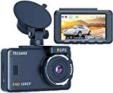 TOGUARD GPS Dash Cam, 1080P FHD Dashcams for Cars, 3'' LCD 170° Wide