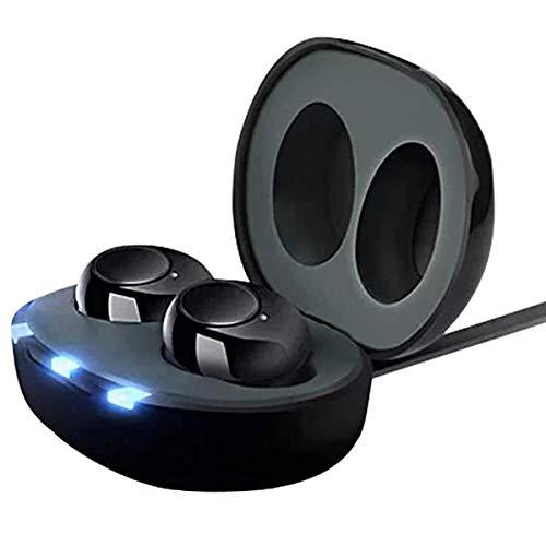 FPTB Mini CIC Amplificatore dell'Udito Digitale Orecchio Interno Amplificatore Vocale Personale con Eliminazione del Rumore One Touch Volume Control Scatola di Ricarica Ricaricabile USB(1 Paio)