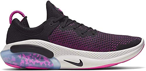 Nike Men's Joyride Run Flyknit Running Shoes (13, Black/Black/Anthracite/Pink Blast)