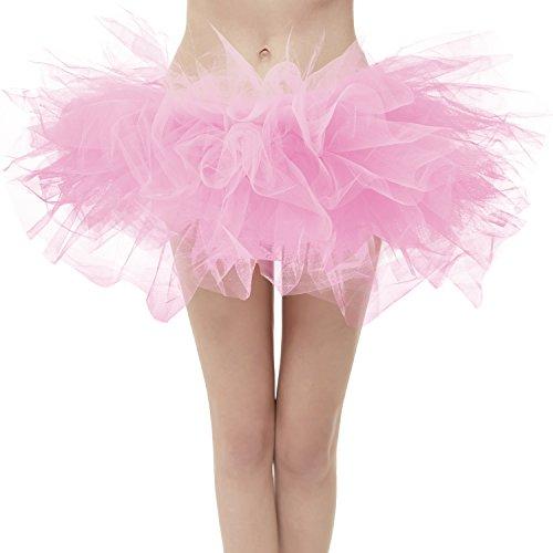 aihihe Womens Teen Girls 1950s Vintage Tutu Tulle Petticoat Ballet Bubble Skirt