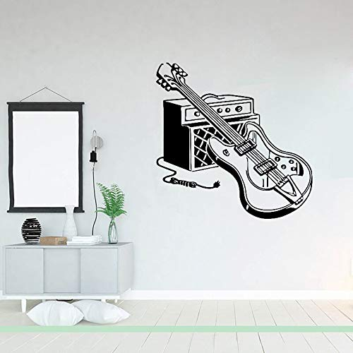 NSRJDSYT Calcomanía de Pared de Guitarra eléctrica, Vinilo, Guitarra, Instrumento Musical, Pegatina de Pared, DEC Interior del hogar, DEC de...