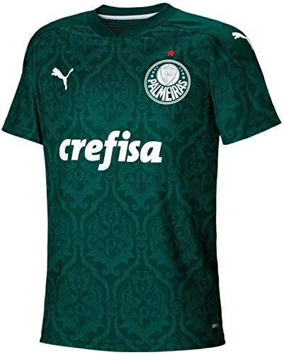 PUMA Copa del Mundo de Fútbol Palmeiras Replica Home Jersey Niños I Palmeiras Replica Home Jersey Kids I, Evergreen, L