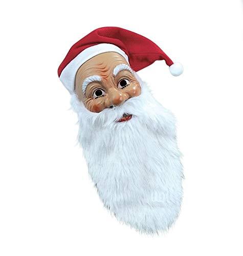 Panelize Nikolaus Nikolausmaske mit Bart und Mütze Weihnachtsmann Santa Claus-Maske