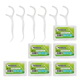 Dental Floss Picks High Toughness Toothpicks Sticks 6-Pack (300Pcs) with Portable Case ,Dental Floss Toothpick,Teeth Cleaning
