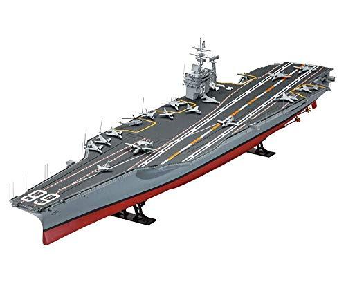 Suncolor8 Exterior Military Aircraft Carrier Puzzle Kits, 1/350 Escala Estadounidense Nimitz-Clase de portaaviones Modelo, Juguetes for niños, 23.6Inch Interior