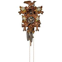 Cuckoo Clock Four Leaves, feeding Birds, Nest
