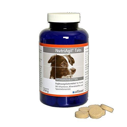 NutriAgil®Tabs Einheit: 210 g Ergänzungsfuttermittel für Hunde-Mit Vitaminen, Mineralstoffen und Spurenelementen-leckere Kautabletten