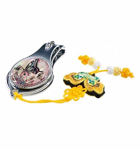 Originelen cortauñas, mariposas diseño, natural nácar de accesorios para manicura accesorio para las mujeres. Corea del africana oficios tradicionales