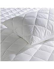 Gaveno Cavailia Pillow Protector de Almohada Acolchado de fácil Cuidado, Transpirable, hipoalergénico, para Mayor suavidad y Lujo, 50 x 75 cm, algodón poliéster, Blanco, 50 cm x 75 cm