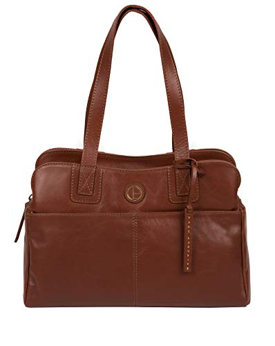 Pure Luxuries London Beacon Women's 32cm Biodegradable Leather Handbag with...