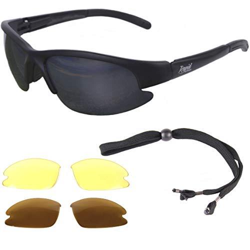Rapid Eyewear Catch Pro Lunettes DE Soleil POLARISÉES DE PÊCHE avec interchangeables. Noir. UV400. Idéal pour la pêche à la Mouche, à la Carpe, au Sau