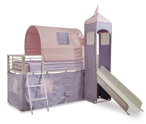 Big Sale Best Cheap Deals Powell Princess Castle Twin Tent Bunk Bed with Slide