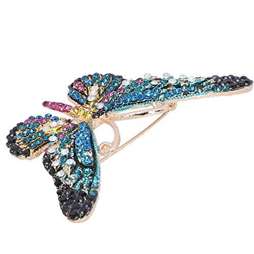 Broche Pin Insignias, Broche de mariposa, Accesorio de ropa de moda de feria comercial Broche de regalo para mujer de feria comercial(blue)