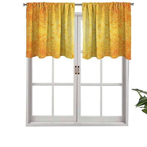 Hiiiman Cenefa recta, panel de cortina de alta calidad, estilo victoriano, patrón antiguo con diseño ornamental floreciente, juego de 2, 137 x 61 cm, ideal para cualquier habitación y dormitorio