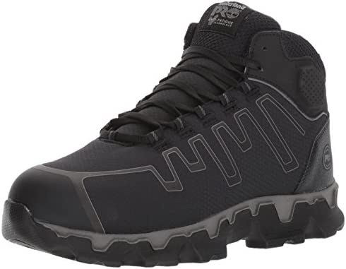 Timberland PRO Men s Powertrain Sport Mid Alloy Toe EH Industrial Construction Shoe Black Ripstop product image